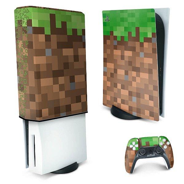 KIT PS5 Skin e Capa Anti Poeira - Minecraft