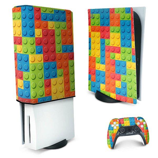 KIT PS5 Skin e Capa Anti Poeira - Lego Peça