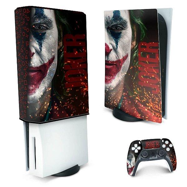 KIT PS5 Skin e Capa Anti Poeira - Joker Filme