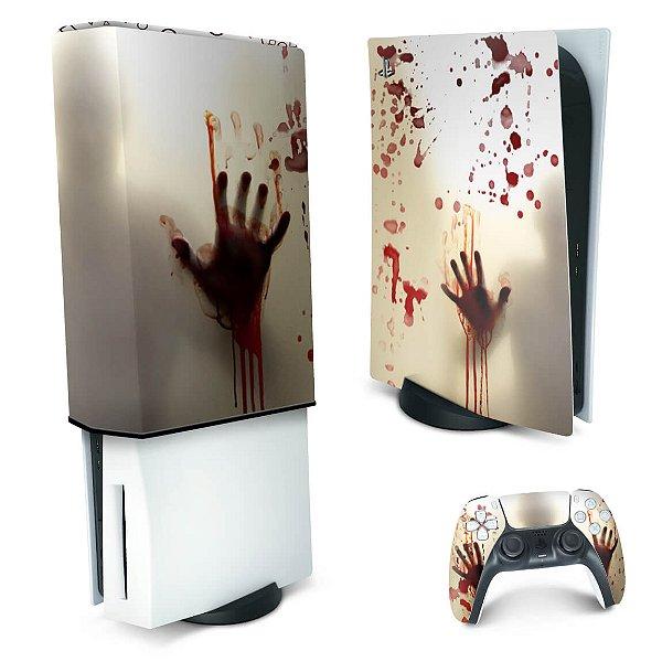 KIT PS5 Skin e Capa Anti Poeira - Fear The Walking Dead