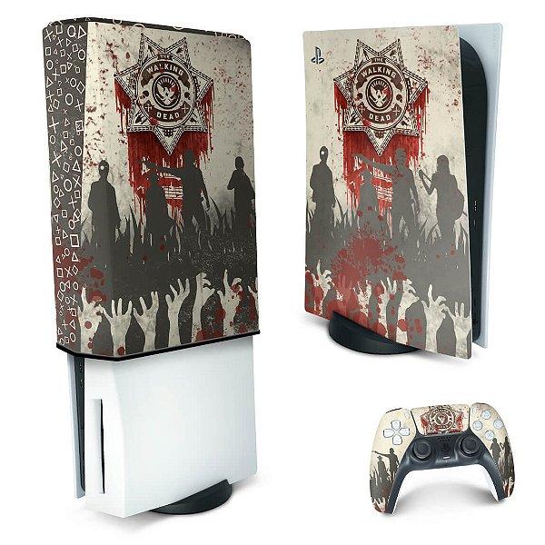 KIT PS5 Skin e Capa Anti Poeira - The Walking Dead