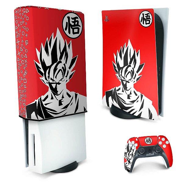 KIT PS5 Skin e Capa Anti Poeira - Dragon Ball Goku Kaiô