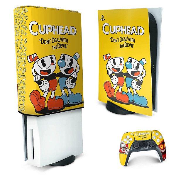 KIT PS5 Skin e Capa Anti Poeira - Cuphead