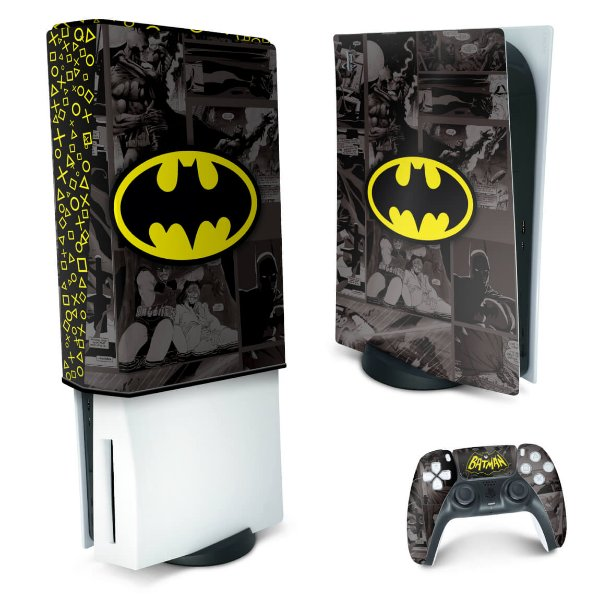 KIT PS5 Skin e Capa Anti Poeira - Batman Comics