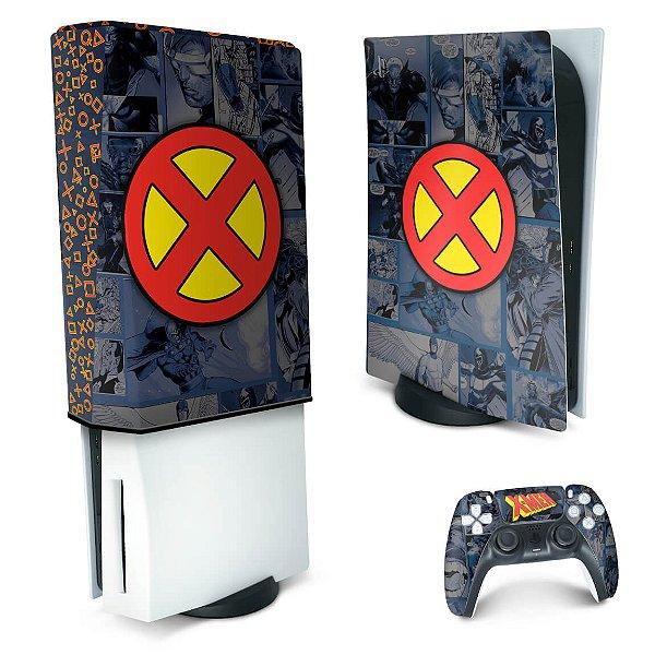 KIT PS5 Skin e Capa Anti Poeira - X-Men Comics