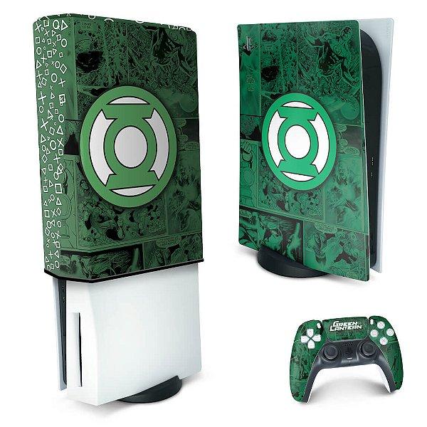 KIT PS5 Skin e Capa Anti Poeira - Lanterna Verde Comics