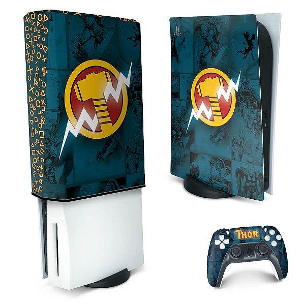 KIT PS5 Skin e Capa Anti Poeira - Thor Comics