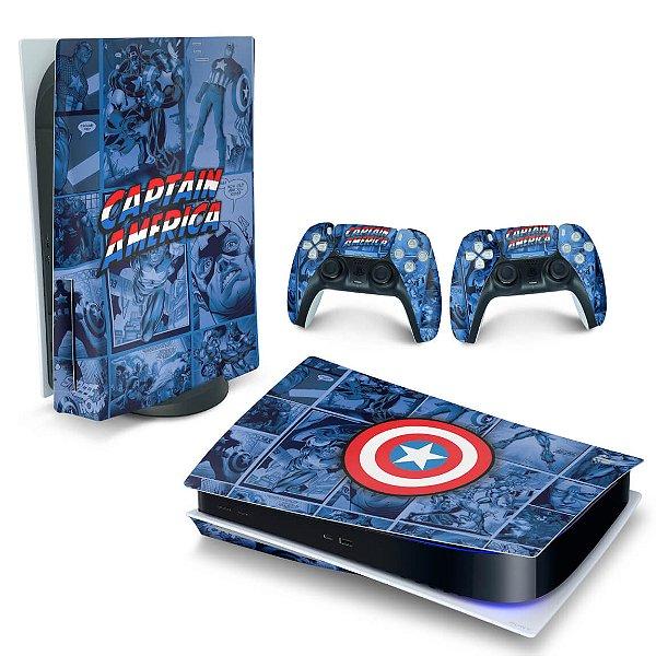 Skin PS5 - Capitão América Comics