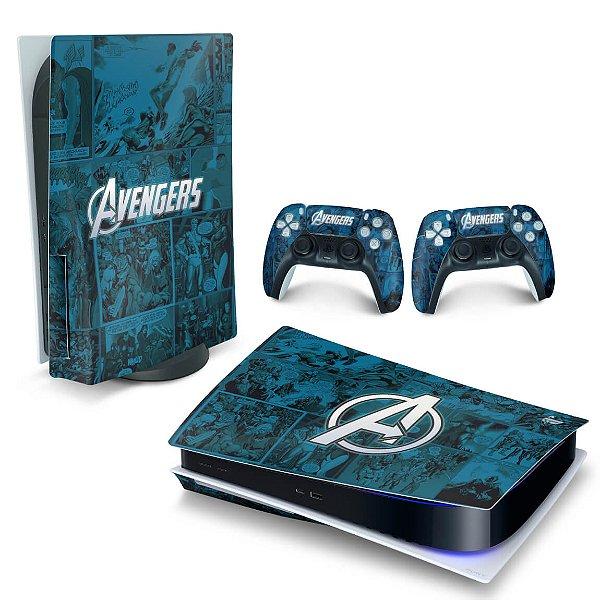 Skin PS5 - Avengers Vingadores Comics