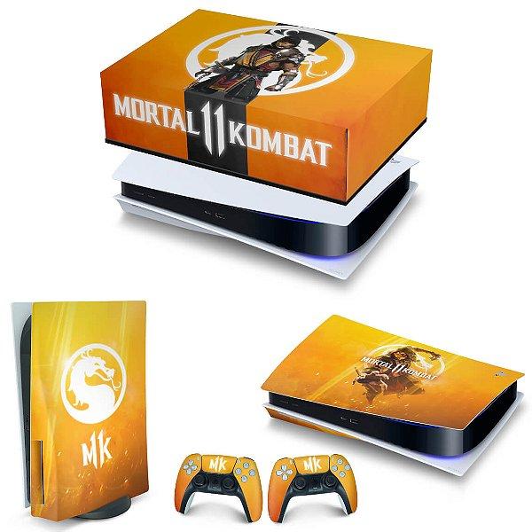 KIT PS5 Capa Anti Poeira e Skin -Mortal Kombat 11