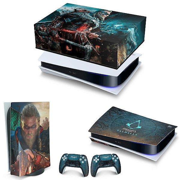 KIT PS5 Capa Anti Poeira e Skin -Assassin's Creed Valhalla