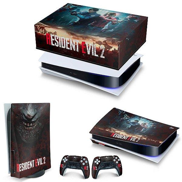 KIT PS5 Capa Anti Poeira e Skin -Resident Evil 2 Remake