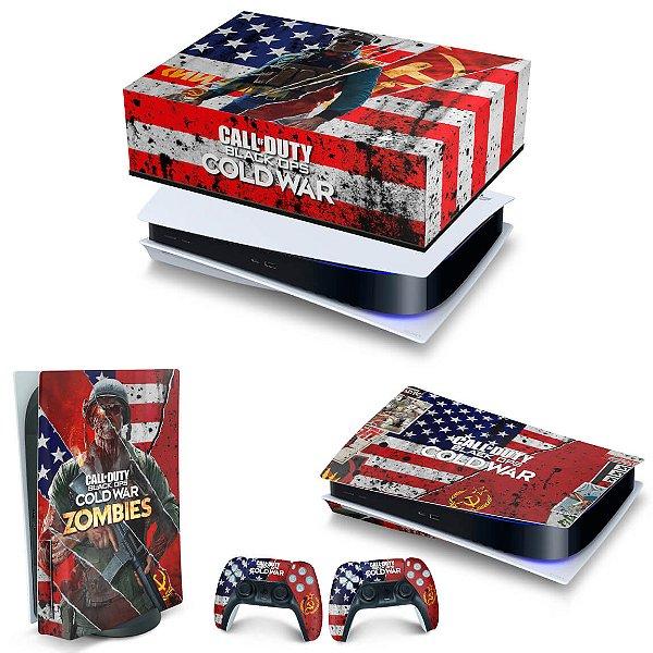 KIT PS5 Capa Anti Poeira e Skin -Call Of Duty Cold War