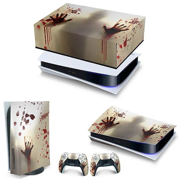 KIT PS5 Capa Anti Poeira e Skin -Fear The Walking Dead