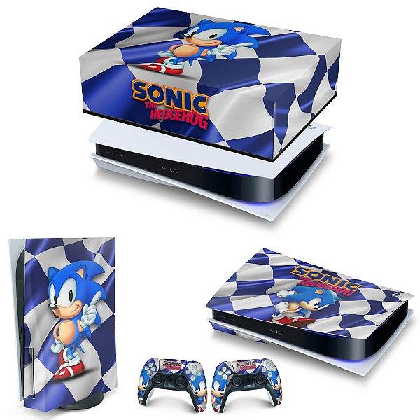 KIT PS5 Capa Anti Poeira e Skin -Sonic