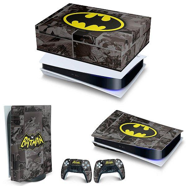 KIT PS5 Capa Anti Poeira e Skin -Batman Comics