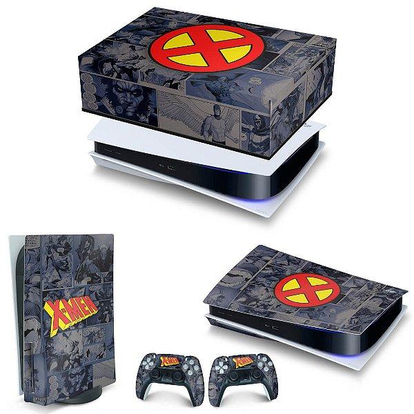 KIT PS5 Capa Anti Poeira e Skin -X-Men Comics