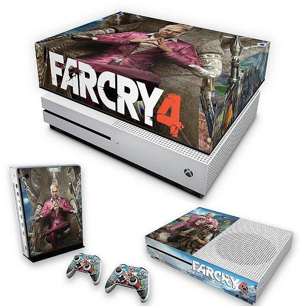 KIT Xbox One S Slim Skin e Capa Anti Poeira - Far Cry 4