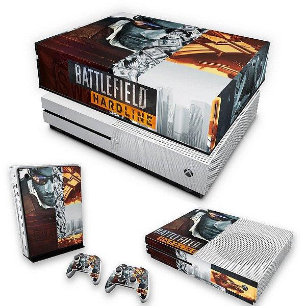 KIT Xbox One S Slim Skin e Capa Anti Poeira - Battlefield Hardline
