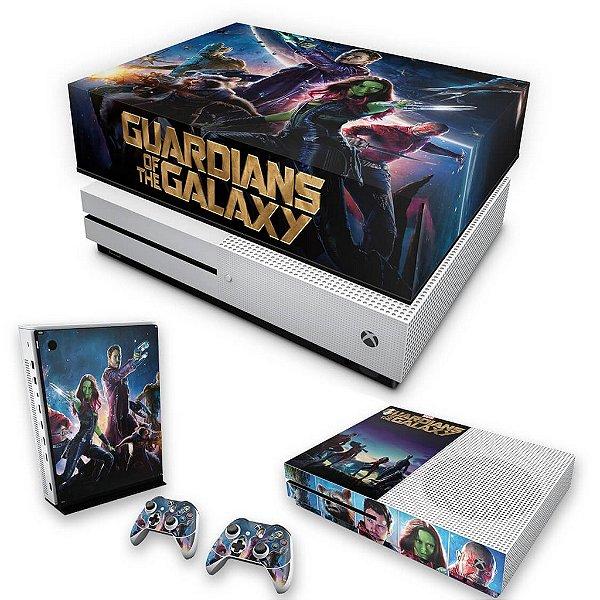 KIT Xbox One S Slim Skin e Capa Anti Poeira - Guardiões da Galaxia