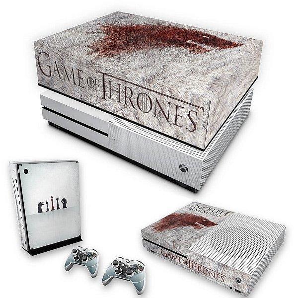 KIT Xbox One S Slim Skin e Capa Anti Poeira - Game of Thrones #A