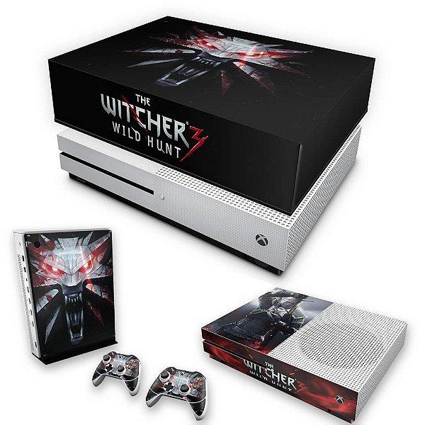KIT Xbox One S Slim Skin e Capa Anti Poeira - The Witcher 3 #A