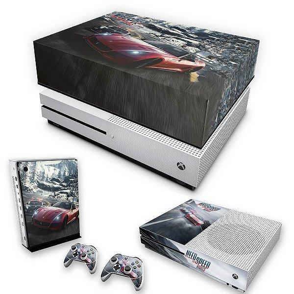 KIT Xbox One S Slim Skin e Capa Anti Poeira - Need for Speed Rivals