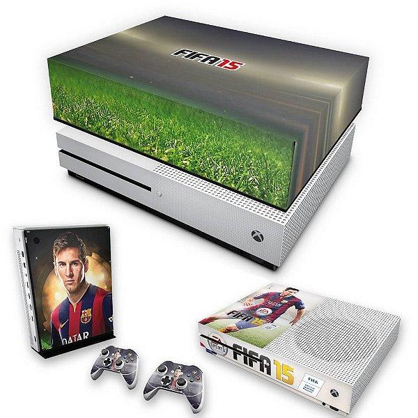 KIT Xbox One S Slim Skin e Capa Anti Poeira - FIFA 15