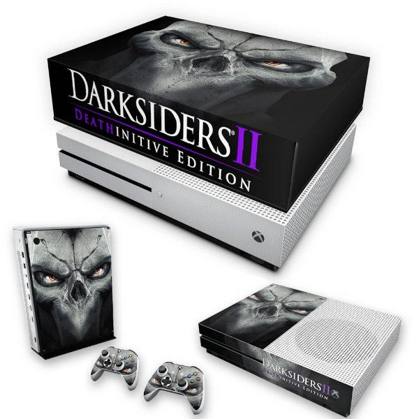 KIT Xbox One S Slim Skin e Capa Anti Poeira - Darksiders 2 Deathinitive Edition