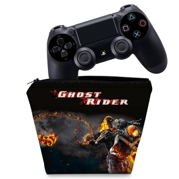 Capa PS4 Controle Case - Ghost Rider #A