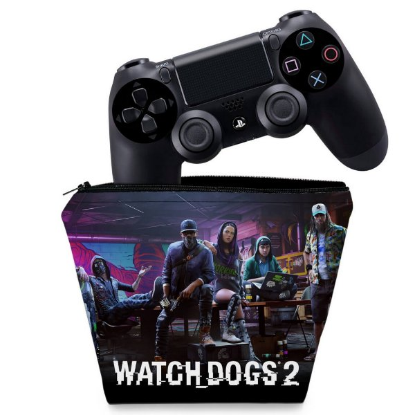 Capa PS4 Controle Case - Watch Dogs 2