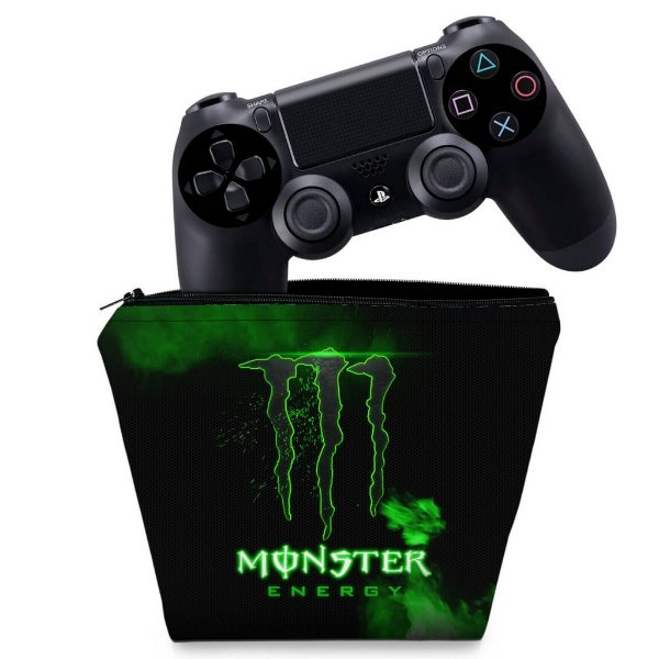 Capa PS4 Controle Case - Monster Energy Drink
