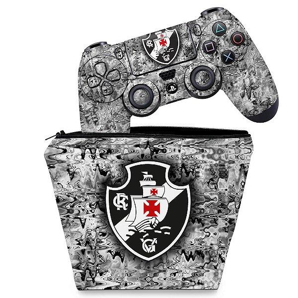 KIT Capa Case e Skin PS4 Controle  - Vasco