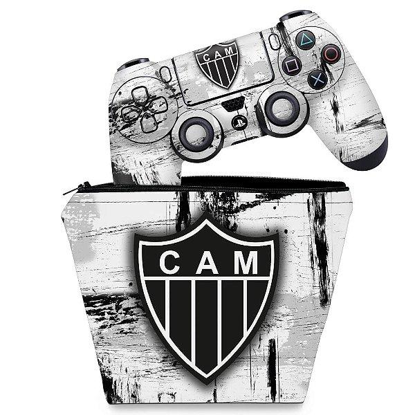 KIT Capa Case e Skin PS4 Controle  - Atletico Mineiro