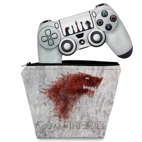 KIT Capa Case e Skin PS4 Controle  - Game Of Thrones #A