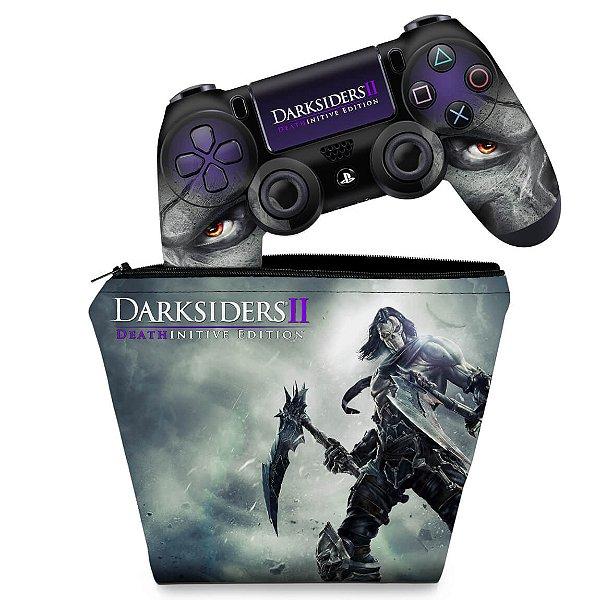 KIT Capa Case e Skin PS4 Controle  - Darksiders Deathinitive Edition