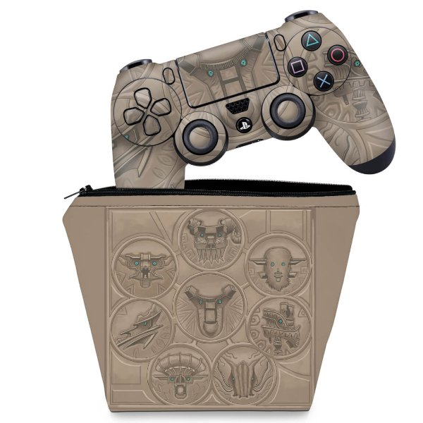 KIT Capa Case e Skin PS4 Controle  - Shadow Of The Colossus