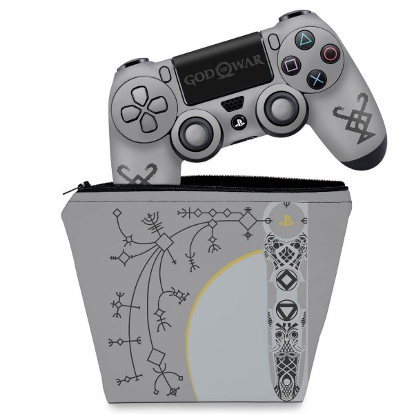 KIT Capa Case e Skin PS4 Controle  - God Of War Limited Edition