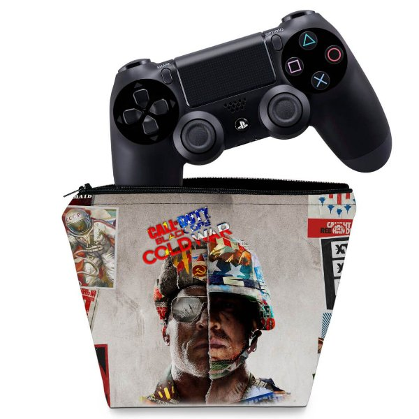 Capa PS4 Controle Case - Call Of Duty Cold War