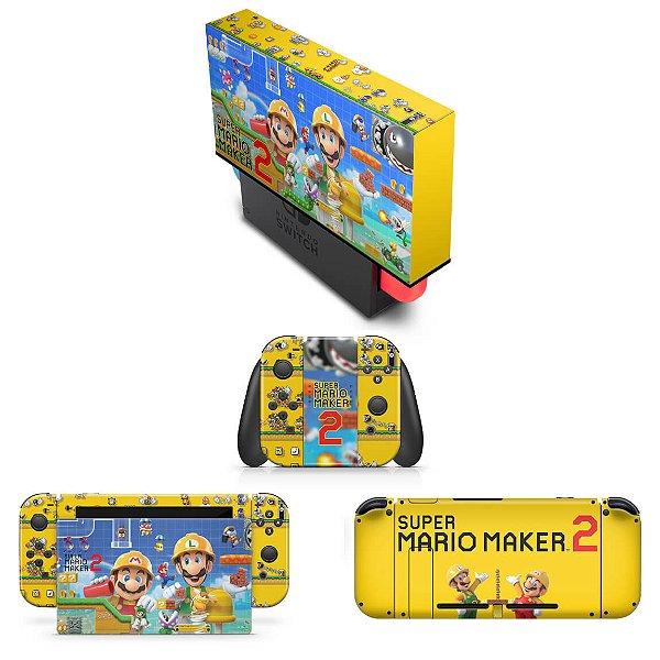 KIT Nintendo Switch Skin e Capa Anti Poeira - Super Mario Maker 2