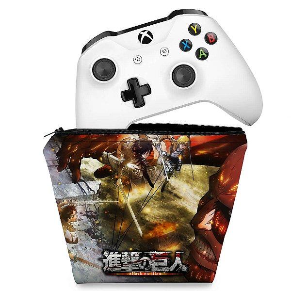Capa Xbox One Controle Case - Attack on Titan #A