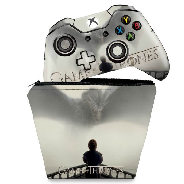 KIT Capa Case e Skin Xbox One Fat Controle - Game of Thrones #B