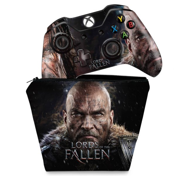 KIT Capa Case e Skin Xbox One Fat Controle - Lords of the Fallen