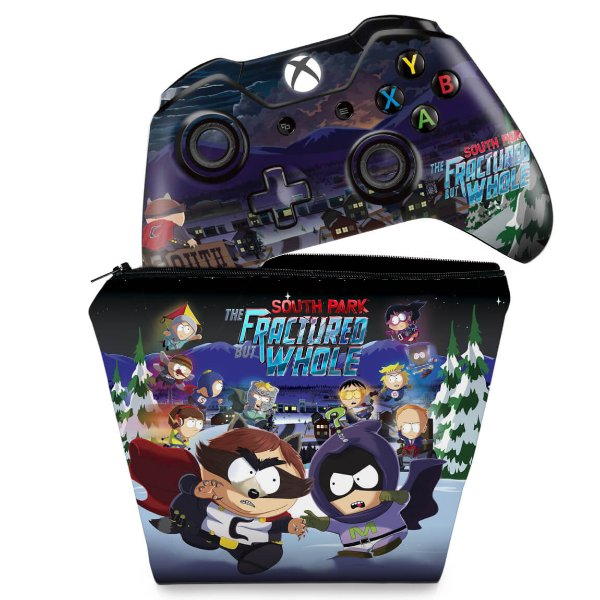 KIT Capa Case e Skin Xbox One Fat Controle - South Park: The Fractured But Whole