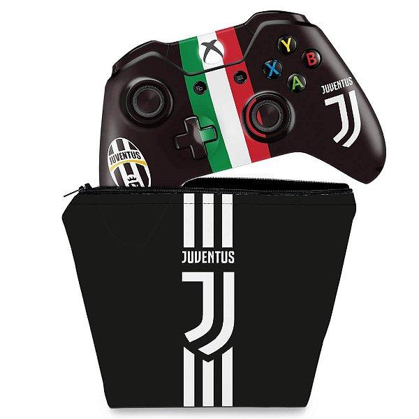 KIT Capa Case e Skin Xbox One Fat Controle - Juventus Football Club
