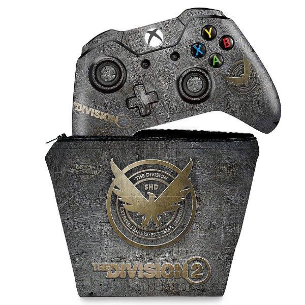KIT Capa Case e Skin Xbox One Fat Controle - The Division 2