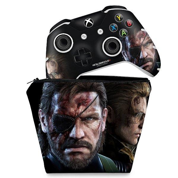KIT Capa Case e Skin Xbox One Slim X Controle - Metal Gear Solid V