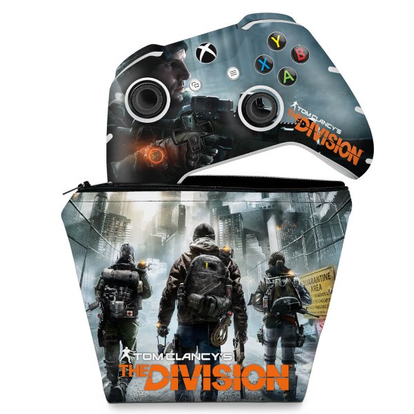 KIT Capa Case e Skin Xbox One Slim X Controle - Tom Clancy's The Division