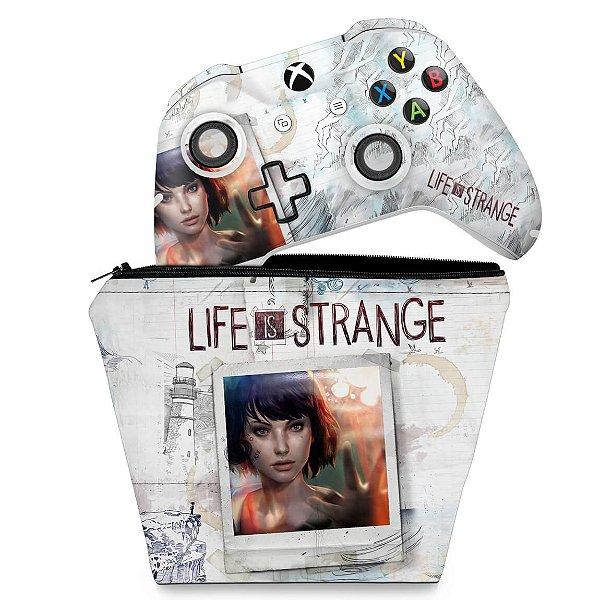 KIT Capa Case e Skin Xbox One Slim X Controle - Life is Strange