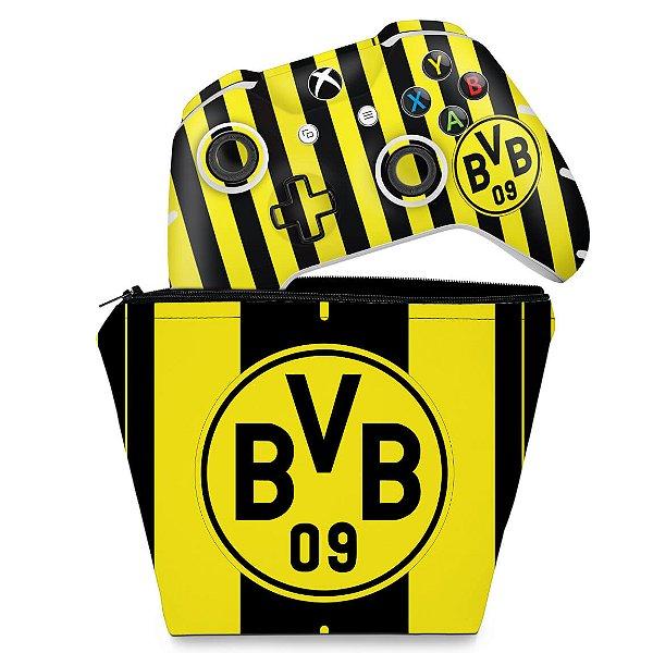 KIT Capa Case e Skin Xbox One Slim X Controle - Borussia Dortmund BVB 09
